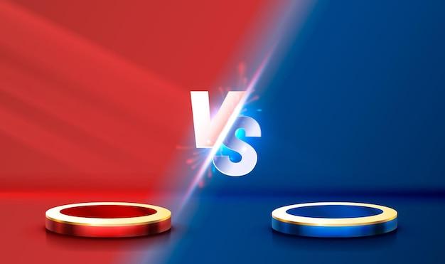 Versus banner de portada de juego concepto de deporte vs equipo