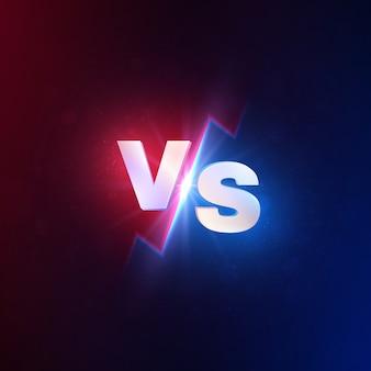 Versus fondo. vs competencia de batalla, desafío de lucha mma. lucha duel vs concurso concept