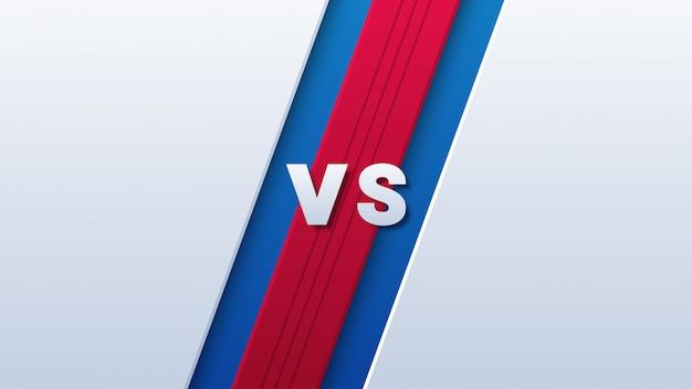 Versus logo para deporte sobre fondo rojo y azul
