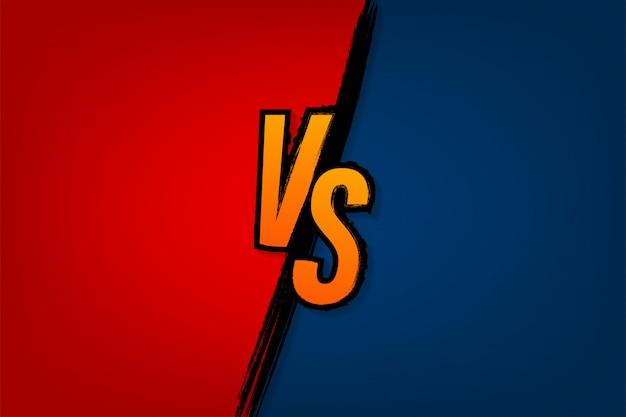 Versus logo vs letras para deportes y competencia de lucha batalla contra partido, concepto de juego
