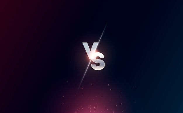 Versus logo vs letras para deportes y competición de lucha. batalla vs partido, concepto de juego competitivo.