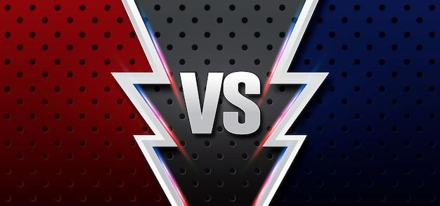 Versus pantalla. fondos de lucha, azul oscuro vs rojo