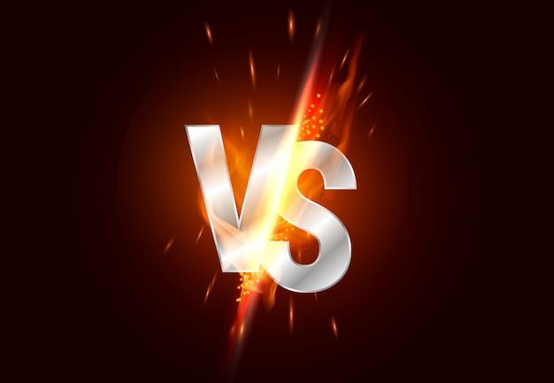 Versus pantalla. vs titular de la batalla, duelo de conflicto entre los equipos rojo y negro. enfrentamiento lucha competencia.