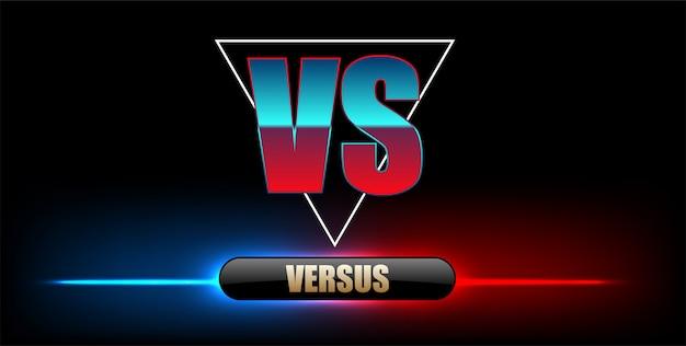 Versus portada del juego, banner sport vs, team. ilustración