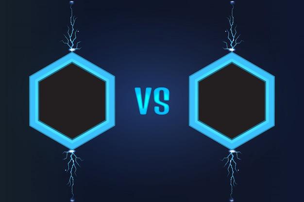 Versus vector de pantalla