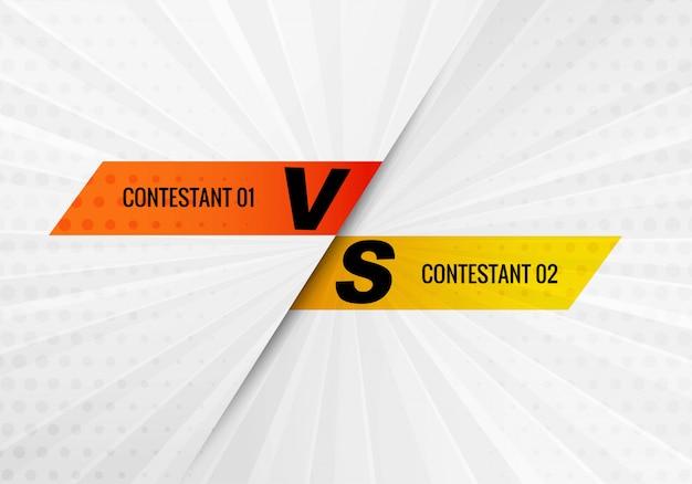 Versus vs concursante y fondo de pantalla