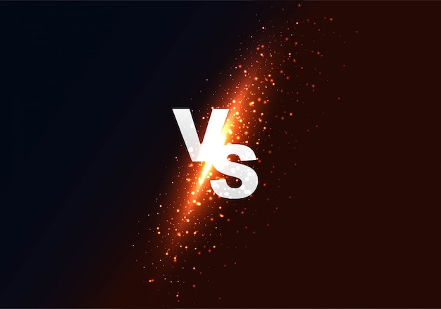 Versus vs fondo colorido brillante