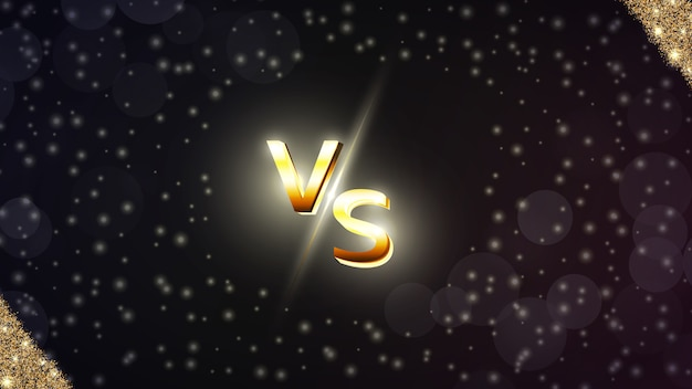 Versus, vs fondo para deportes, competencia de lucha, batalla, partido y juegos.