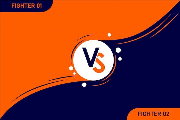 Versus vs letras pelea ilustración sobre fondos