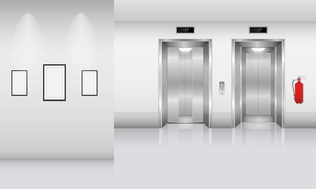 Vestíbulo y decoración interior de edificio moderno, diseño arquitectónico