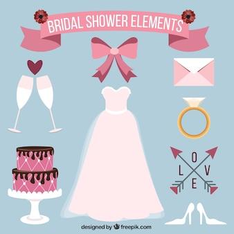 Vestido de novia con elementos