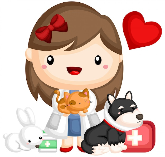 Veterinario y animal