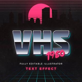 Vhs 1980 efecto de texto