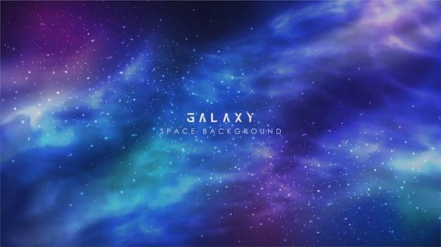 Vía láctea cósmica con gradiente galaxy espacio abstracto cielo fondo banner