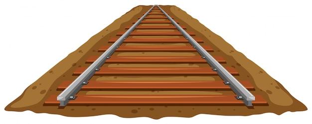 Vía del tren en el suelo