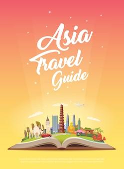 Viaja a asia. viaje.
