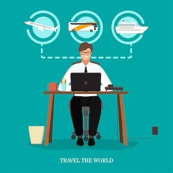 Viaja por el concepto del mundo.