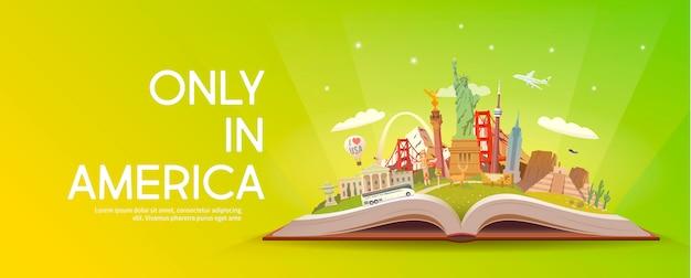 Viaja a norteamérica. viaje.