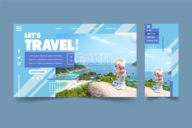 Viajando a la página de inicio de la playa