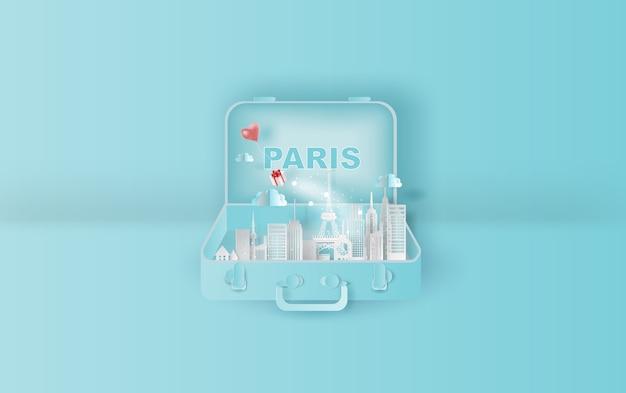 Viajando reserva de hotel de vacaciones ciudad de parís,