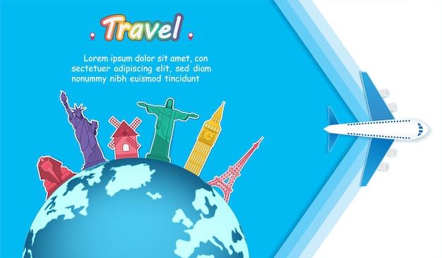 Viajar alrededor del mundo.