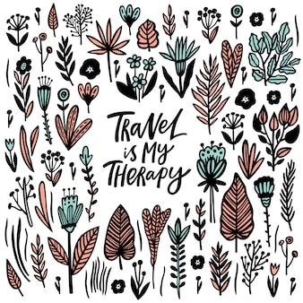 Viajar es mi terapia. carta de citas.
