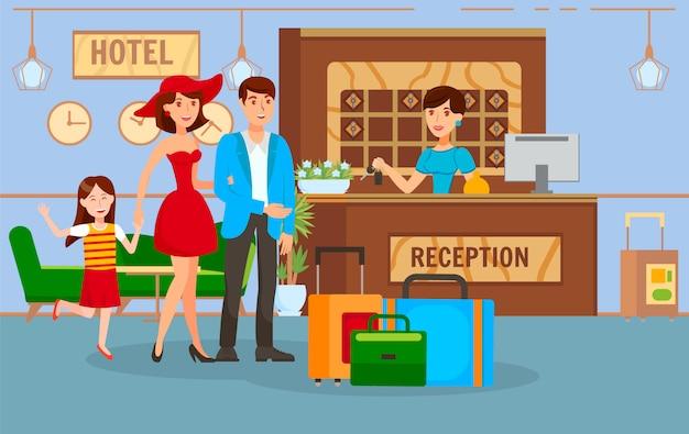 Viajar juntos con la ilustración vectorial familiar