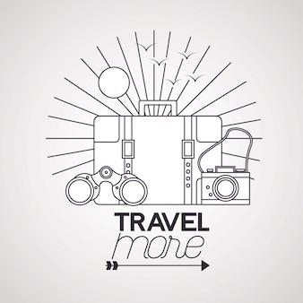 Viajar más ilustración del cartel