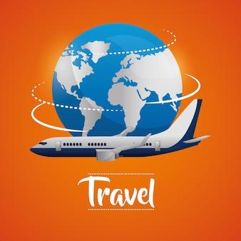 Viajar por el mundo en avión dando la vuelta al mundo
