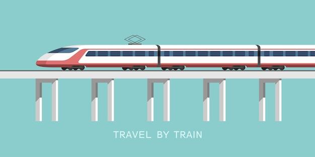 Viajar en tren ilustración