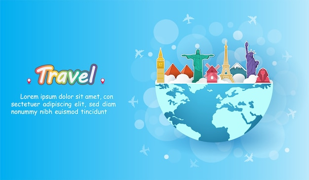 Viaje en avión alrededor del mundo.