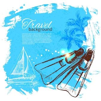 Viaje colorido diseño tropical. fondo de gota de salpicadura