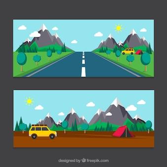 Viaje en furgoneta, banners