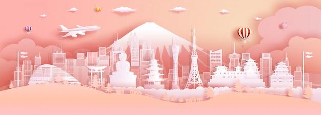 Viaje a japón la arquitectura y el palacio antiguos del castillo mundialmente famoso.