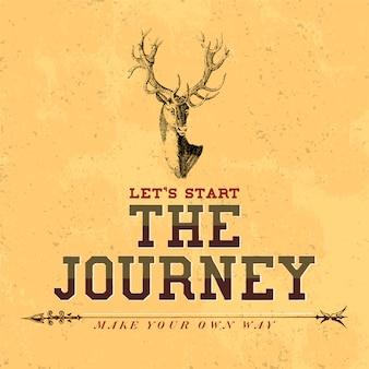El viaje logo diseño vectorial