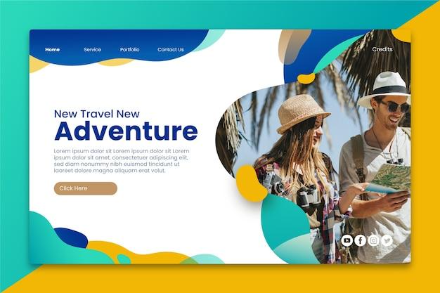 Viaje de la página de destino con foto