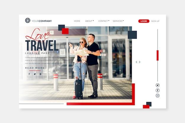 Viaje de la página de destino con imagen