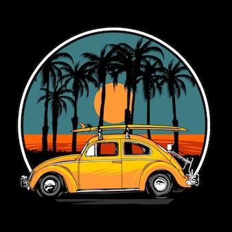 Viaje de verano del escarabajo