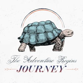 Viaje y viaje vector de diseño de logotipo