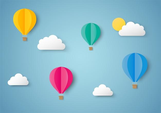 Viajes de arte en papel con vuelo en globo