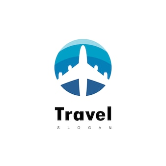 Viajes logo design vector