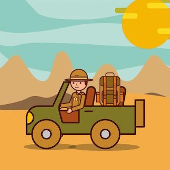 Viajes de safari de personas