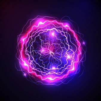 Vibrante efecto de luz de bola eléctrica