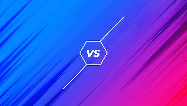 Vibrante versus vs banner para desafío de competencia