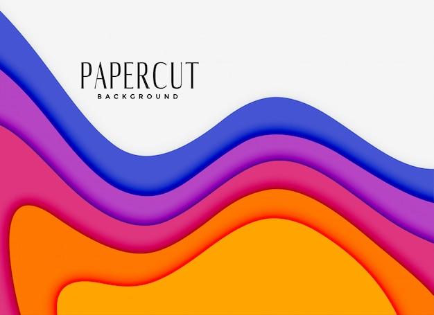 Vibrantes capas de papercut en diferentes colores.