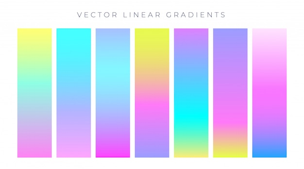 Vibrantes degradados de colores de holograma