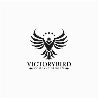 Victory bird - plantilla de logotipo de águila