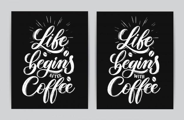 La vida comienza después del café.