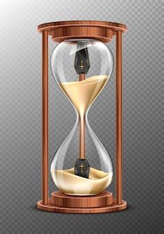 La vida es corta, concepto rip, reloj de arena con ataúdes