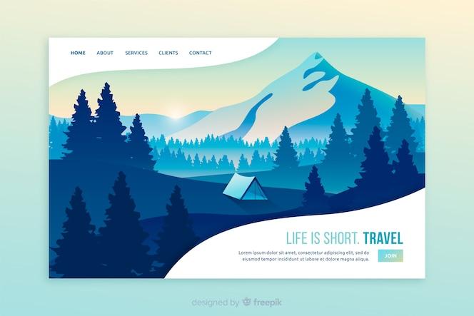 La vida es la página de inicio de un viaje corto